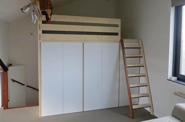 Hoogslaper Met Kast : Zon steigerhout meubels steigerhout hoogslaper ellen