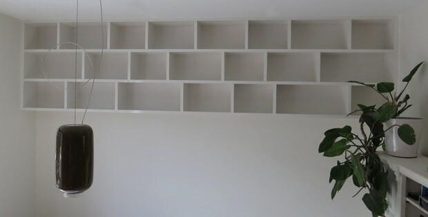 hangende boekenkast open wandmeubel